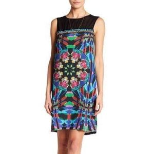NWT Desigual Beaded Shift Dress Size 2